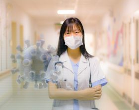 masked health care worker
